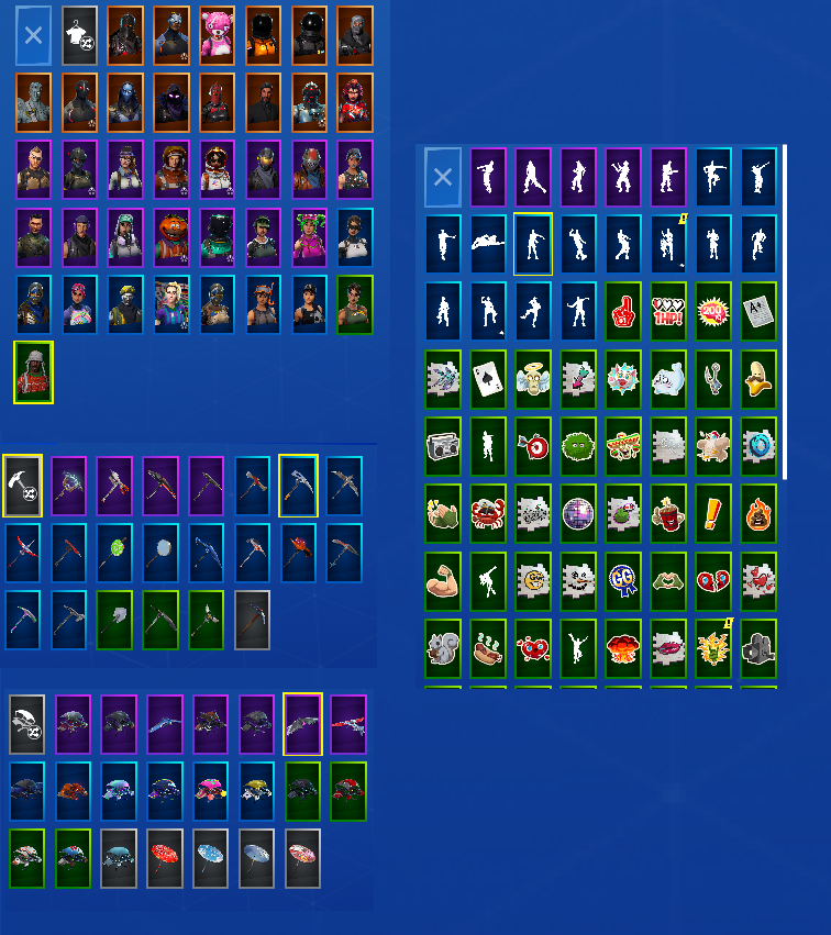 Fortnite Mobile 39 Outfits | 300+ Wins | Black Knight | Omega | Reaper | Red Knight | YuleTide Ranger | Love Ranger