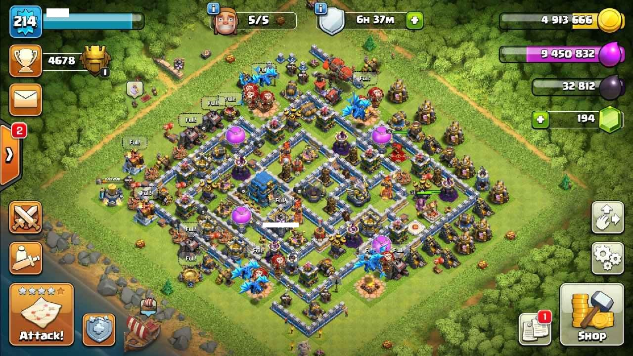 Clash Of Clans Mobile TH12 LVL 214 MAX | King 65 Queen 65 Warden 36 BM 25 | Free name change + SuperCell Id link Available