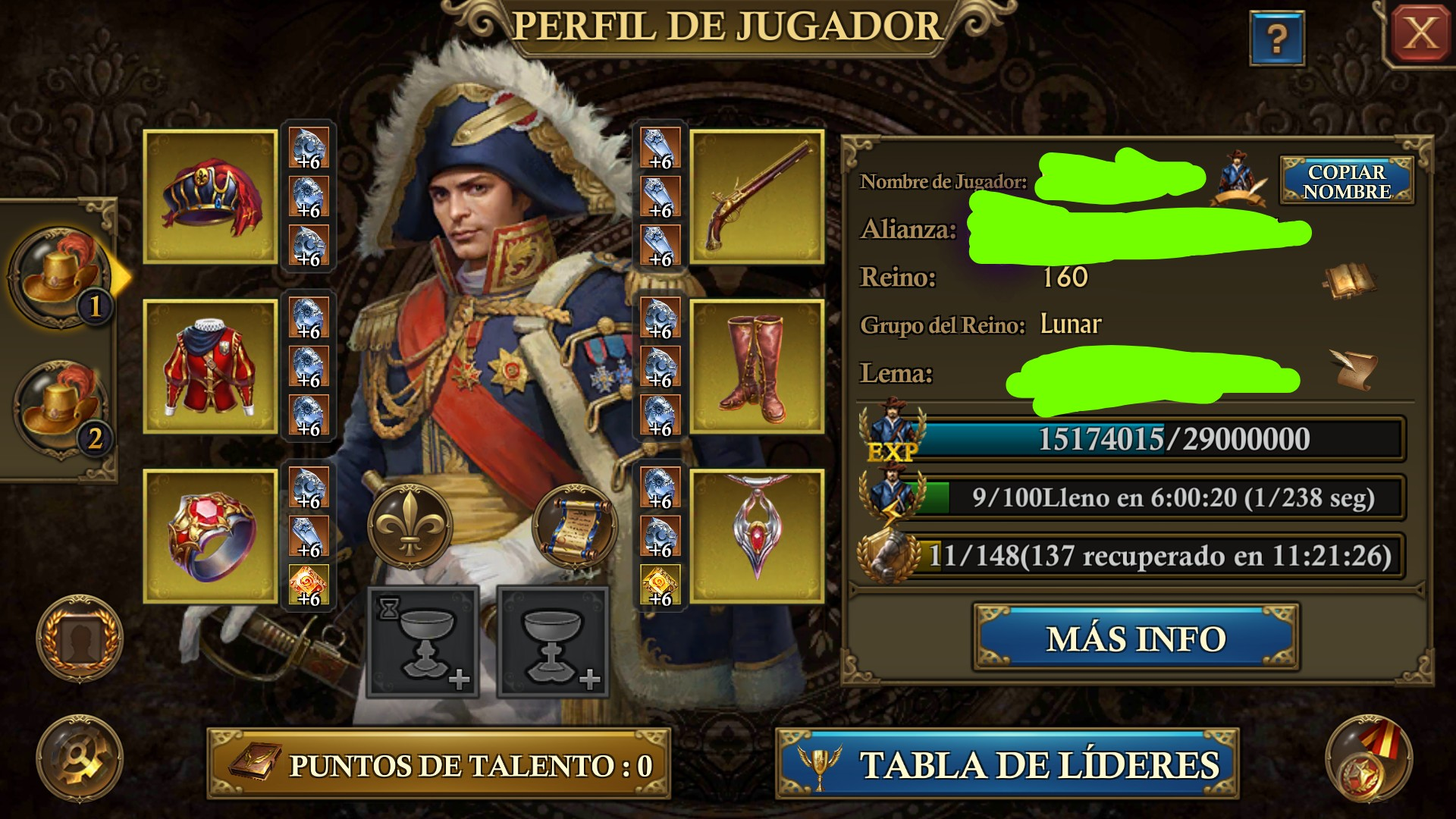 Guns of Glory Mobile Selling  Average  Android and iOS C30, K160, 250M power, Full nobility +5.