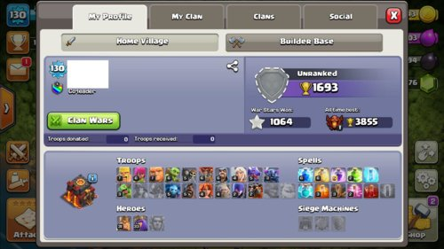Clash Of Clans Mobile  Selling  TH10  Android and iOS [VERIFIED SILVER SELLER] Level 130 Q33/K31 - 1064+ WAR STARS Make Offer