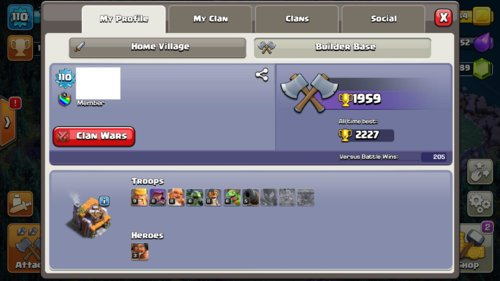 Clash Of Clans Mobile Selling  TH9  Android and iOS [VERIFIED SILVER SELLER] Level 110 - 1989+ GEMS - K 13 / Q15 - 192+ WAR STARS