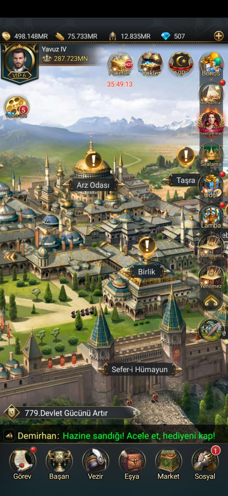 Game of Sultans Mobile GAME OF SULTANS VİP6 - 287M