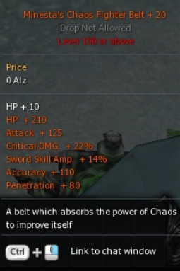 Cabal PC Chaos Fighter BELT +20